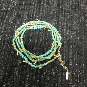 Stella & Dot Hart Versatile Bracelet - Aqua